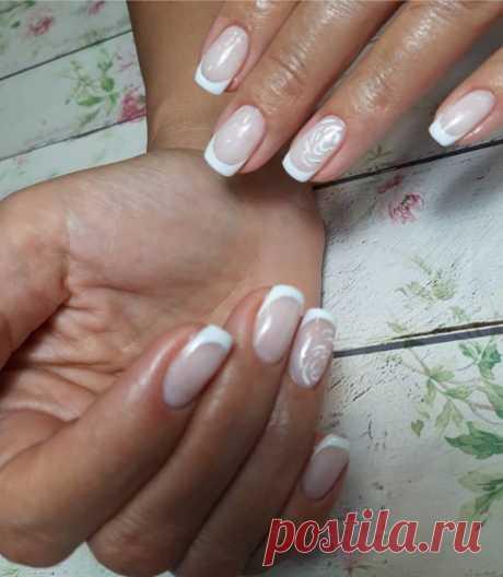 Белый в маникюре -Фото — модный дизайн ногтей