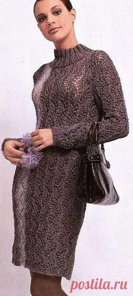 Вечернее платье связанное спицами. Схема, описание вязания платья | Лаборатория домашнего хозяйства