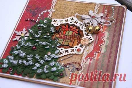 🎄 Новогодние открытки своими руками: красивое дополнение к основному подарку