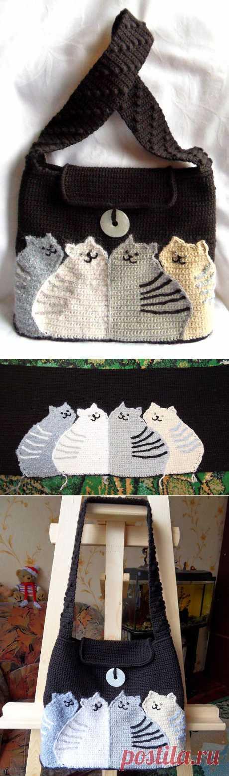 Коты | Вязаные сумки