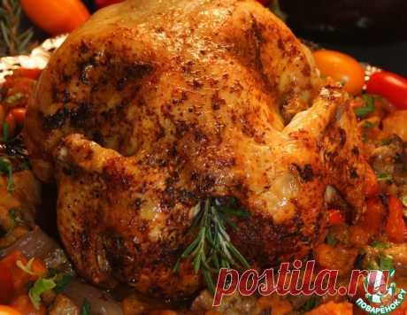 Курица в полёте по-гречески – кулинарный рецепт