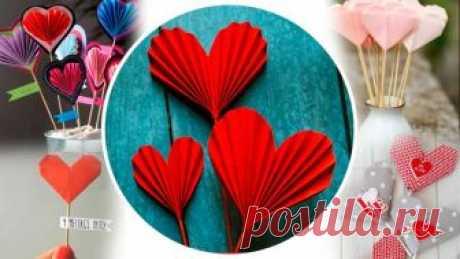 Валентинки своими руками из бумаги: шаблоны поделок и мастер-классы