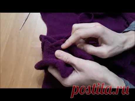 Окончательное пришивание волана, продевание шнура