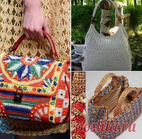 Вязаные сумки своими руками: 30 красивых идей В арсенале современной модной женщины любого возраста непременно должно быть хотя бы пару таких атрибутов. В том числе и вязаные сумки крючком