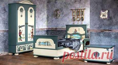 Элитная детская мебель из массива дерева с ручной росписью