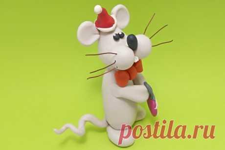 Мышка из пластилина для детей и взрослых в пошаговом мастер-классе с фото