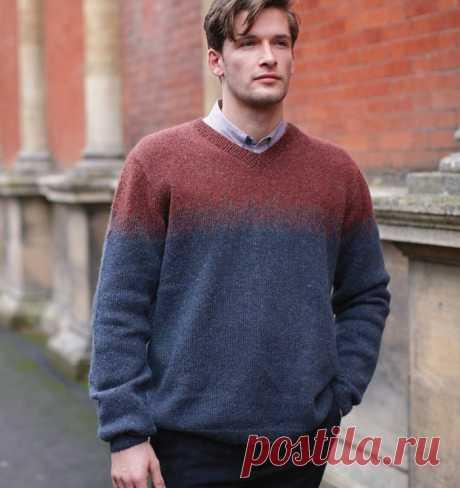 Мужской пуловер Holtby от Annika Andre Wolke - Modnoe Vyazanie ru.com