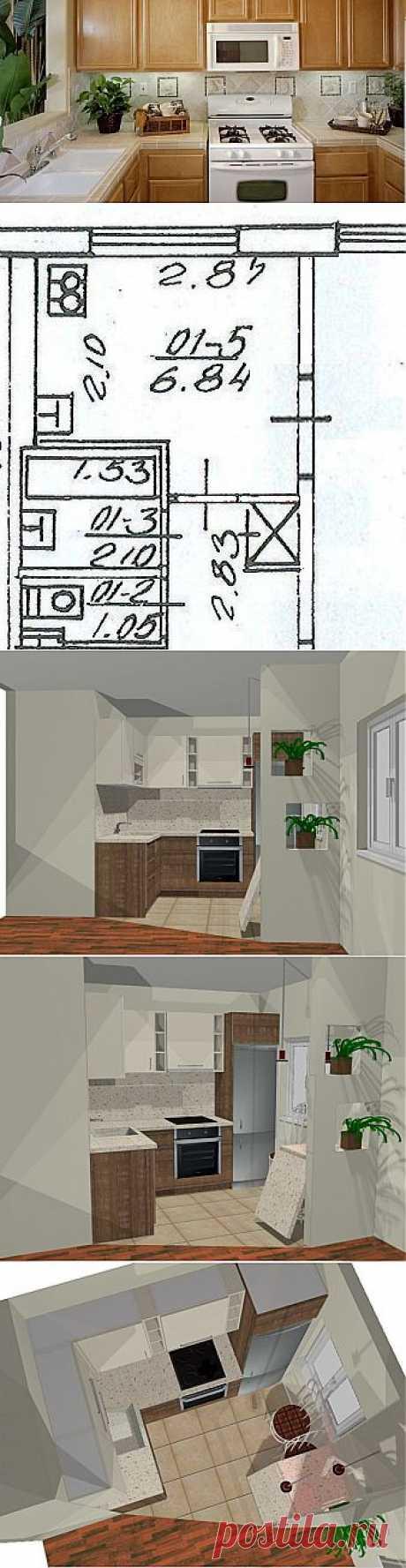 Kaip aš padidinau mažą virtuvę