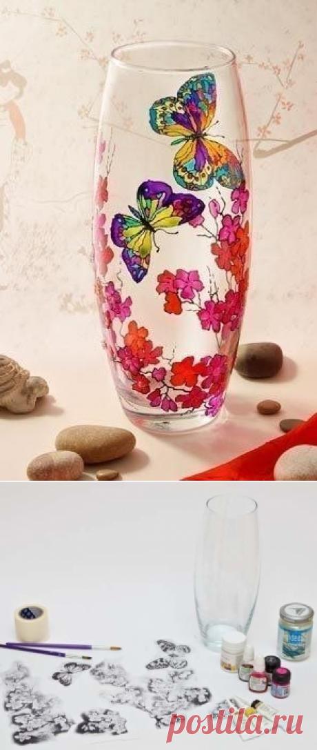 Украшаем вазу