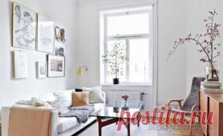 Шведская двушка в 41 м² Шведская двушка в 41 м² Очень милая квартира с печью, лепниной, белыми стенами и элементами из светлого необработанного дерева. Особый шарм интерьеру придают не только детали шебби шика, но и обилие г...