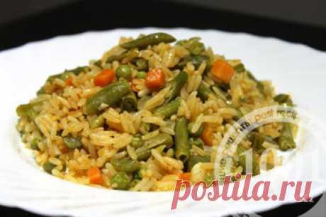 Как приготовить вегетарианский рис на сковороде - Горячие блюда от 1001 ЕДА вкусные рецепты с фото!