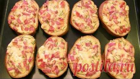 Горячие Пицца-бутерброды за 10 минут. Сочная начинка на хрустящем батоне.