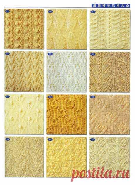 Узоры для вязания спицами. Подборка 65
