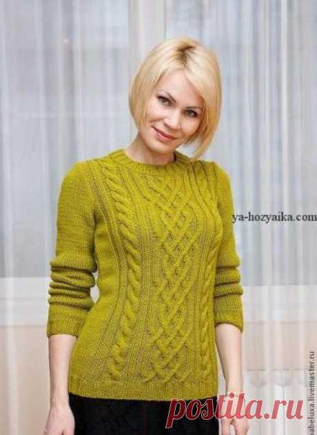 Красивый пуловер спицами схема. Пуловер спицами 2018