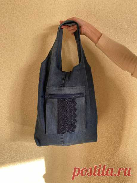 Задумала сделать объёмную аппликацию на джинсовой сумке. Что из этого получилось. Переделка из старых вещей.   О рукоделии, и не только.   Яндекс Дзен