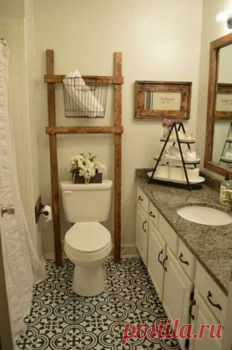 Женщина превратила стертый и унылый пол в ванной комнате в шедевр дизайнерского искусства почти без затрат | Нескучный дизайн интерьера | Яндекс Дзен