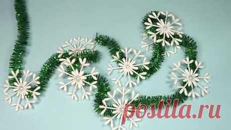 КРАСОТА из ВАТНЫХ ПАЛОЧЕК своими руками! Новогодние идеи!❄🤩👍