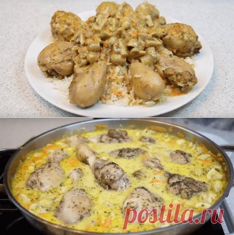 Курица в сырном соусе - приготовление рецепта с фото