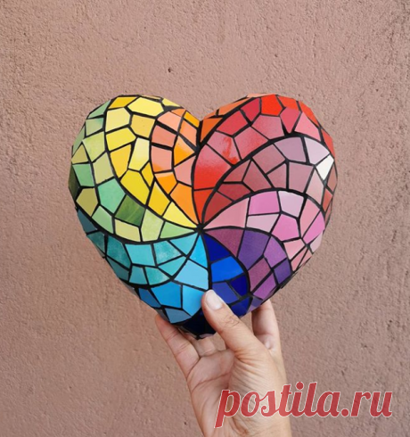 Сердце из мозаики.
