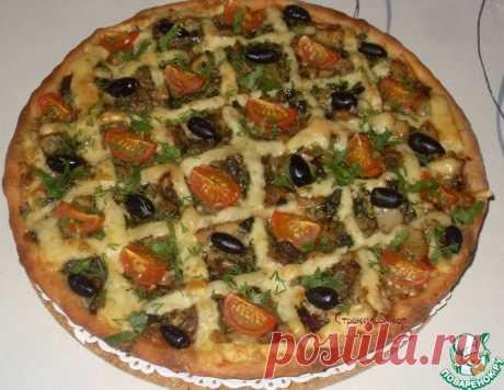 Начинка грибная для открытого пирога или пиццы – кулинарный рецепт