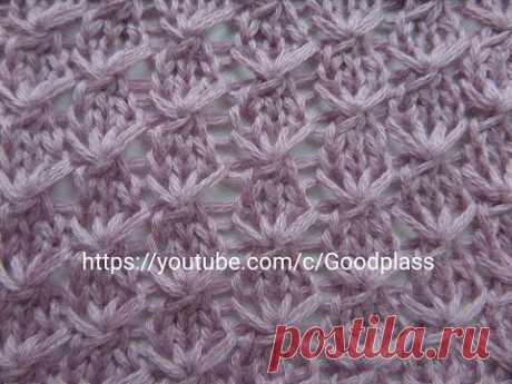 """Pattern """"Звездочки"""" in chessboard order. Knitting by spokes."""