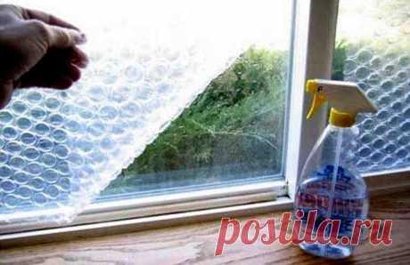 Как утеплить окна пленкой с пузырьками
