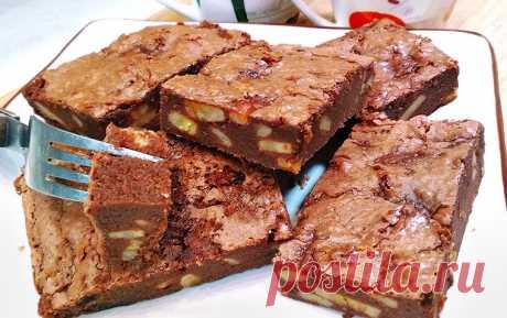 Шоколадно-банановый пирог «Брауни» | Рецепты на SuperKuhen.ru
