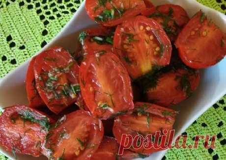 Помидорки-пятиминутки Автор рецепта Мама Смешинки - Cookpad