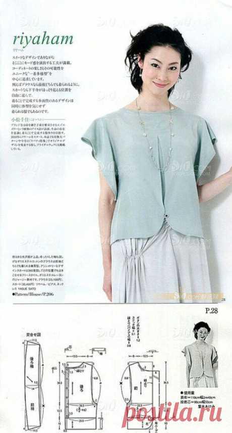 Выкройки блузок Модная одежда и дизайн интерьера своими руками