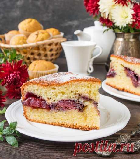 Как приготовить Сливовый пирог на творожном тесте - проверенный пошаговый рецепт с фото на Вкусном Блоге