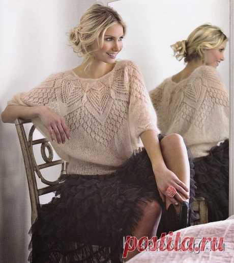 Очень красивая мохеровая блуза   Клубок