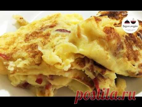 Как приготовить омлет  Омлет на сковороде  Omelette on a frying pan - YouTube