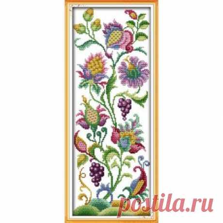 Вечная любовь абстрактные цветы экологического хлопка вышивки крестом 11 CT и 14 CT штампованные изделия рождественских продаж купить на AliExpress