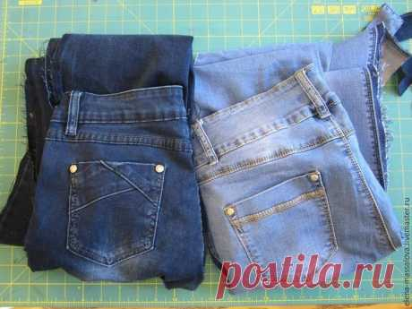 """Шьем джинсовую сумку с клапаном, декорированным лоскутным блоком """"Обезьянья лапа"""""""