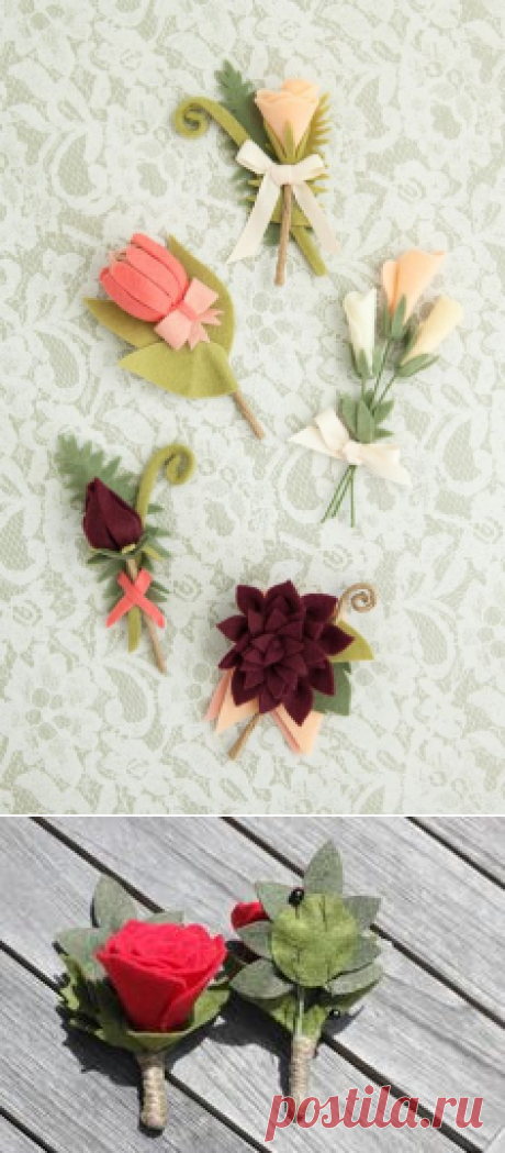 How To Make The Most Gorgeous Felt Wedding Bouquet! | Boutonnieres and Flower