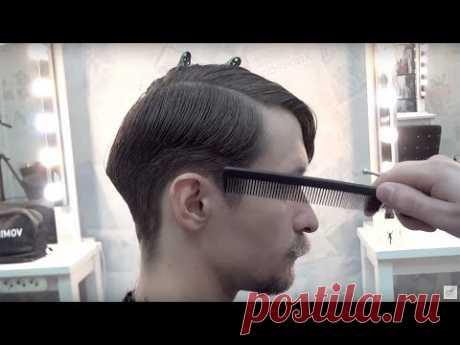 Урок для парикмахеров. МУЖСКАЯ СТРИЖКА полная версия мастер-класс. Артем Любимов Барбершоп обучение - YouTube
