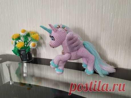 Аликорн = пегас+ единорог, ч.3. Alikorn = Pegasus + Unicorn, р.3. Amigurumi. Crochet, амигуруми.