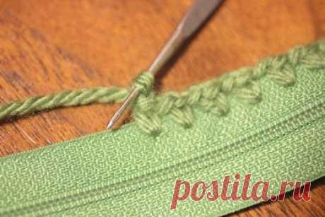 Как подготовить молнию для вязаных вещей Модная одежда и дизайн интерьера своими руками