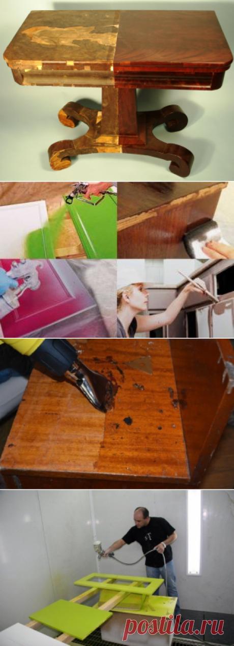 Как перекрасить лакированную мебель своими руками | MyKrasim.ru | Яндекс Дзен