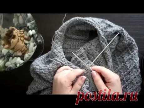 Мужской пуловер спицами. Часть 2