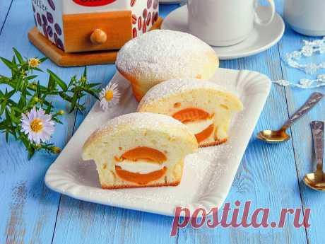 Кексы с начинкой в формочках Улыбка Лета рецепт с фото пошагово - 1000.menu