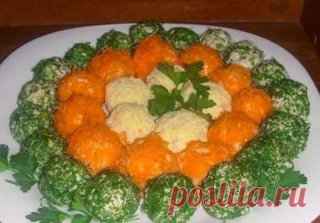 Как приготовить оригинальный салат в шариках - рецепт, ингредиенты и фотографии
