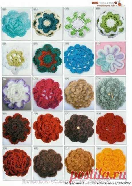 We knit flowers