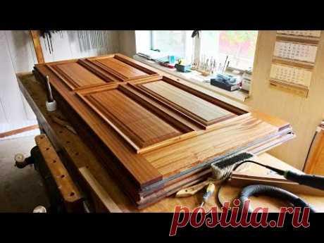 Изготовление входной утепленной двери из массива сапели / How to make a door