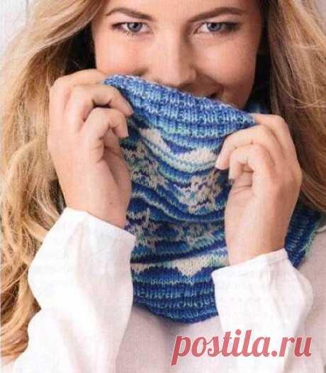 Снежный снуд (Вязание спицами) — Журнал Вдохновение Рукодельницы