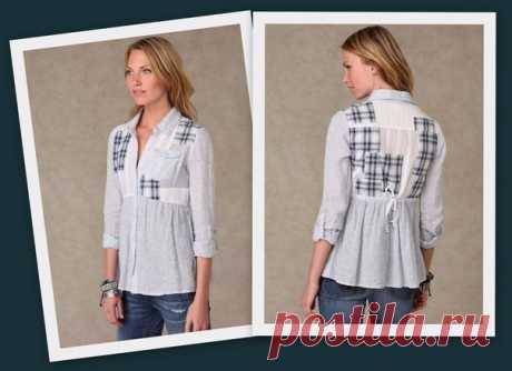Блузка пэчворк из рубашек
