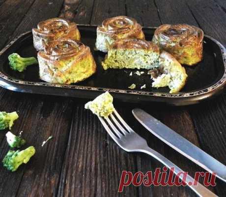 Сливочные кексы из брокколи готовить очень просто и быстро!