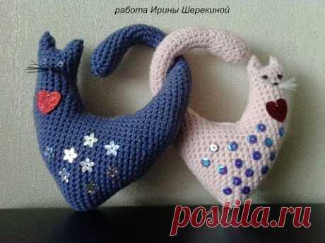 Валентинка, сердечные котики, ч.2. Valentine, heart cats, р.2. - YouTube