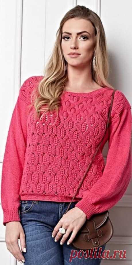 Пуловер крючком 2020