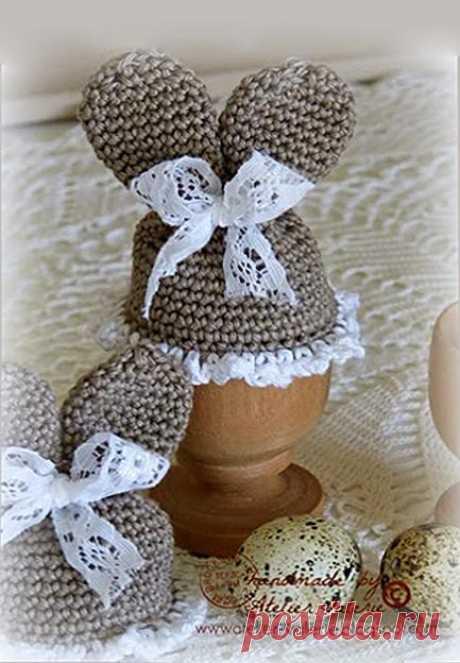 Пасхальная грелка для яиц крючком. Описание
